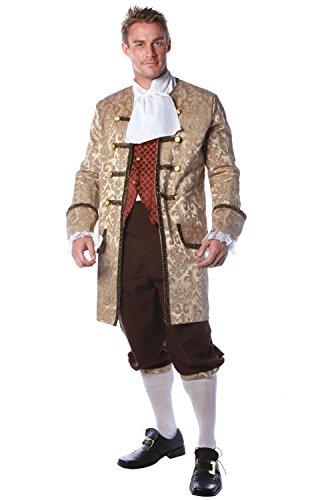 Colonial Man Halloween Costumes (Underwraps Men's Plus-Size Colonial Man, Tan/Brown/Rust, XX-Large)
