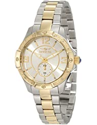 Invicta Womens 10222 Angel Diamond Accented Silver Dial Two Tone Stainless Steel Watch