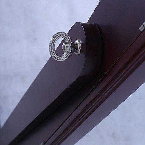 155CM-157cm Schmuckschrank Mit Spiegel schrank Schmuckkasten Schmuckkommode DE (braun) -