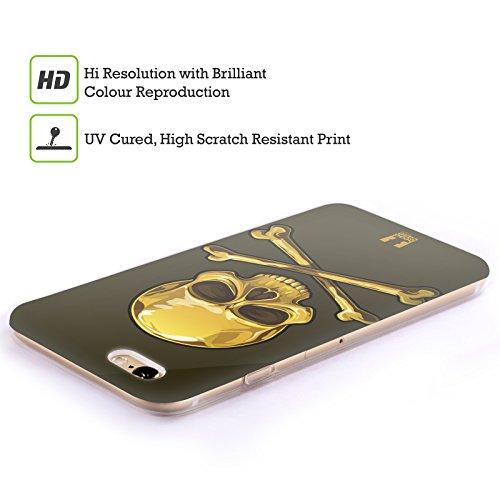 Head Case Designs Gold Skulls and Crossbones Soft Gel Back Case Cover for Samsung Galaxy Grand Prime 3G 4G Duos LTE G530