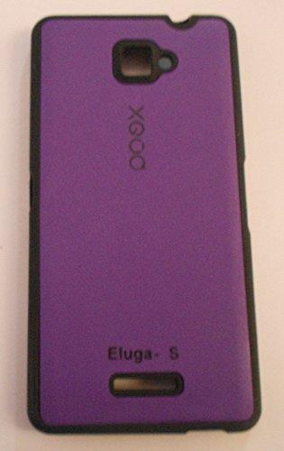 size 40 67757 5183f NBD XGOQ BACK CASE COVER FOR Panasonic ELUGA S PURPLE: Amazon.in ...