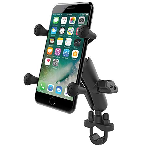 Ram Mounts RAM-B-149Z-UN7U Handlebar Rail Mount with U-Bolt Base and Universal X-Grip Cell Phone Holder, Zinc Coated (Best Cell Phone For The Money 2014)