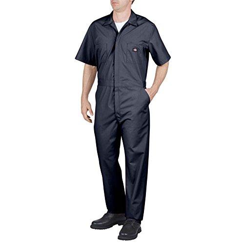 Dickies Men's Short Sleeve Coverall, Dark Navy, Small Regular ()