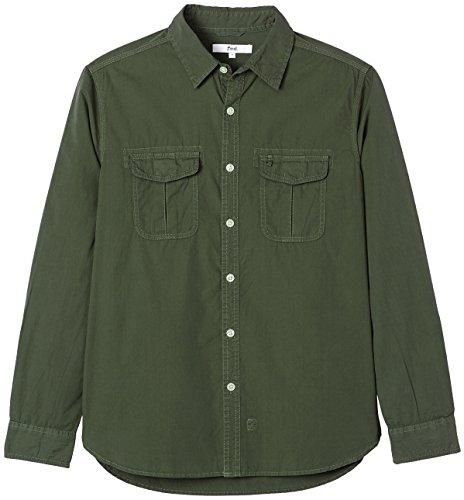 Find Uomo Camicia army Verde Green rSrqdzOx