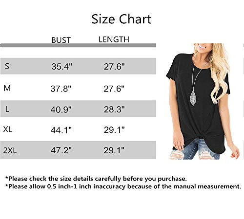 a437104432a ... ZILIN Women's Cold Shoulder T-Shirt Long Sleeve Knot Twist Front Tunic  Tops (WW ...