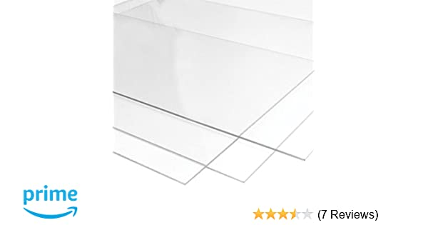 6mm Plexiglass Hard Acrylic Sheet - Multipurpose Use, Waterproof  Transparent Clear Glass Sheet (6x12)(1Pcs)