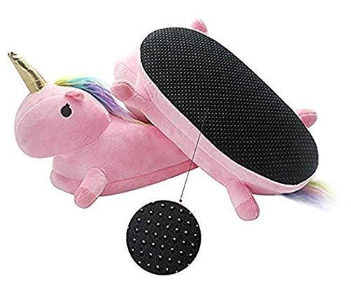Formesy Pantoufle Adulte Unicorn Maison Chaussures Rose Chaussons Licorne Chaud Peluche De Hiver rqtxRrfEw