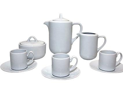Santa Clara Iria Blanco - Juego de café 12 servicios, 27 piezas