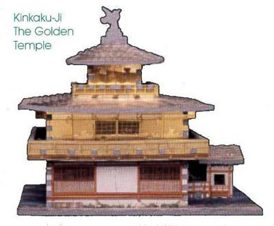 Kinkaku-Ji (The Golden Temple), 357 Piece 3D Jigsaw Puzzle Made by Wrebbit Puzz-3D