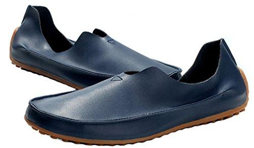 Jiye Leren Schoenen Heren Casual Casual Loafers Schoenen Blauw