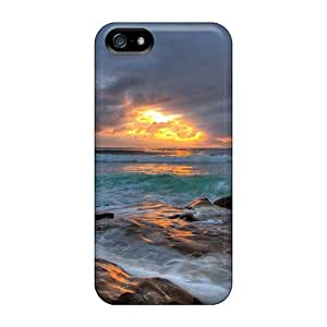 Cases Covers For HTC One M7 Strong Protect Cases - Sea Cloudy Sunset Design