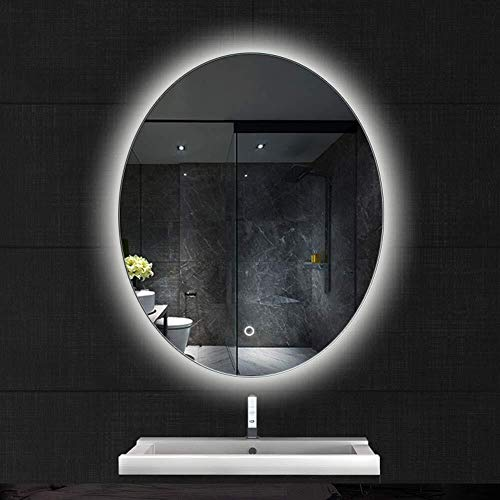 500x700mm Illuminated Led Anti-Fog Bathroom Mirror with Touch Switch Wall-Mounted Makeup Vanity -
