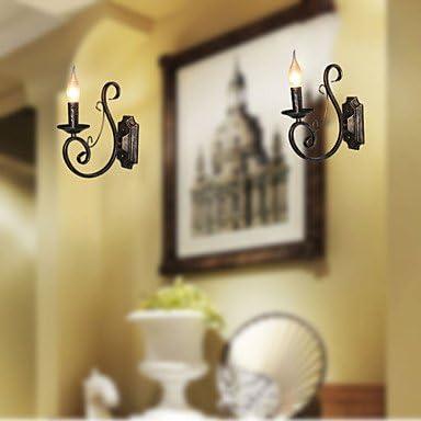 WYFC Mini-Retro-Wandleuchte Flur Metall Kerze Form Wandleuchte Beleuchtung