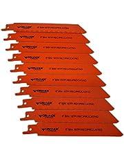 "ORANGE TORNADO 10 Pack 6"" 18 TPI Bi Metal HSS/Cobalt reciprocating Saw Blades"