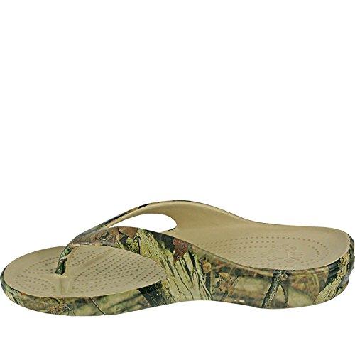 Dawgs Womens Chêne Moussu Flip-flops Cassure Infini