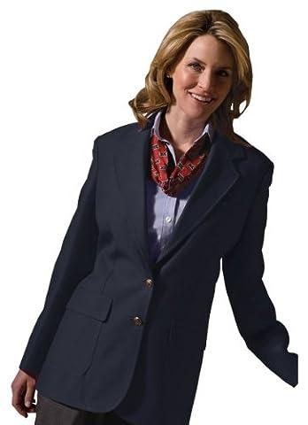 Edwards Garment Women's Two Button Single Breasted Blazer, DARK NAVY, 6 T - Breasted Navy Blazer