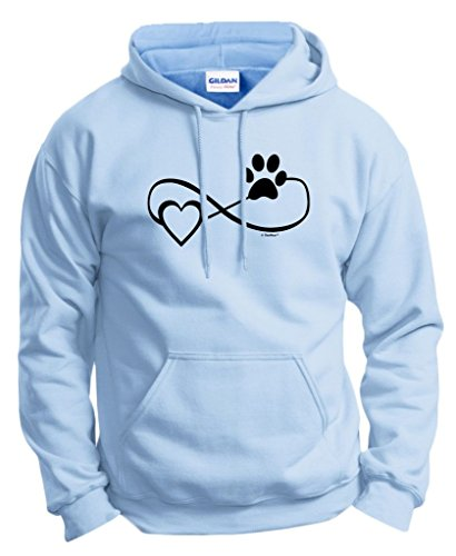 Sweatshirt Agility - Dog Cat Lover Gift Infinite Love Infinity Symbol Hoodie Sweatshirt Large LtBlu