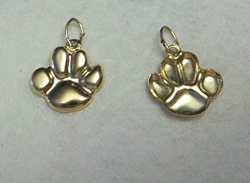 1 14K Gold Filled 12x10mm Bear Tiger Dog.Paw Print Charm Jewelry Making Supply, Pendant, Charms, Bracelet, DIY Crafting by Wholesale (Wholesale Dog Charms)