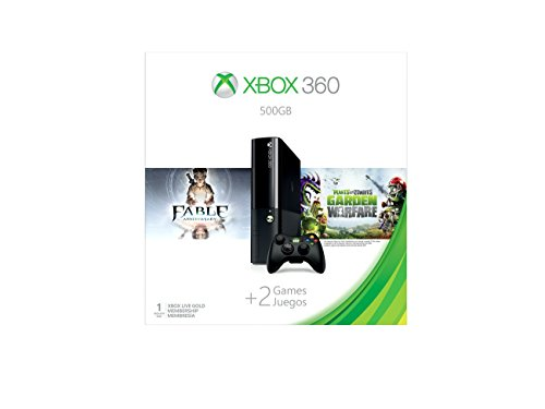 Xbox 360 500GB Console - Fable Anniversary and Plants vs Zombies: Garden Warfare (Anniversary Bundle)