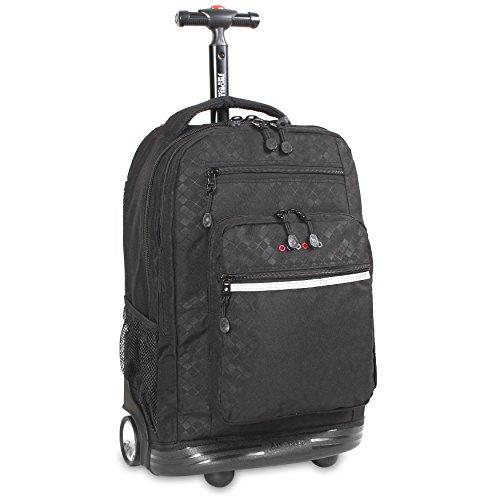 J World New York Sundance Rolling Backpack, Argyle Black, One Size