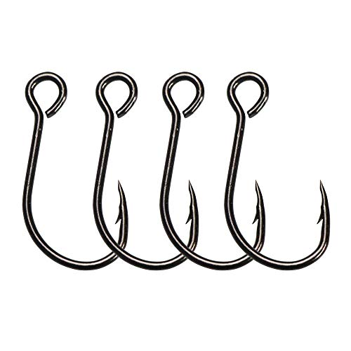 30pcs/pack Inline Single Hooks Single Replacement Hooks for Fishing Baits Lures 2/0 1/0 1# 2# 4# 6# 8# (2#-30pcs) ()