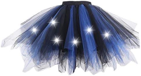 VOVOL Falda de tutú irregular de colores de contraste para mujer y ...