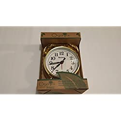 Advance Brass Organtick Keywind Analog Alarm Clock