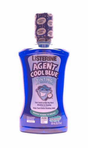 Disclosing Gum Tablets (Listerine Agent Cool Blue Tinting Pre-brush Rinse Shows Where to Brush 16.9 Oz (Pack of 2))