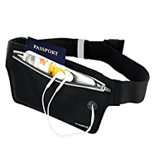 Money Belt Waist Wallet - EOTW Travel Stash Undercover Waist Band Pocket Pouch For Keys Cashes ID Credit Card Ticket - Ultra Slim Adjustable, For Traveling Vacation Walking Trip