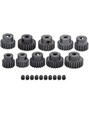 RC Motor Gear, 10Pcs/Set 16T‑25T 7075 48P Steel Motor Gear Pinion RC Accessory Suitable for 1/8 1/10 Brushless Motors