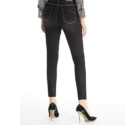 Donna Mvguihzpo Alti Vestibilità Blu Calda Fori Elasticizzata Scuro L Xl Vita Invernali Jeans 5r5nUWT