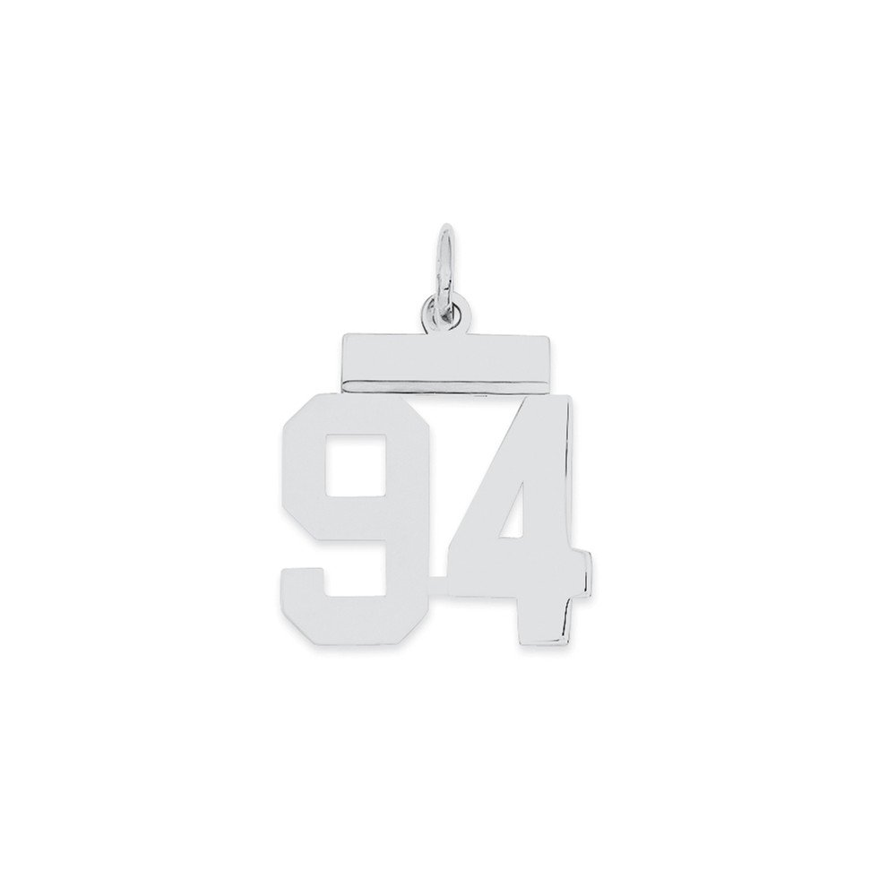 New Fashion Sterling Silver Small Polished Number 94 Qss94 High Quality Materials Precious Metal Without Stones