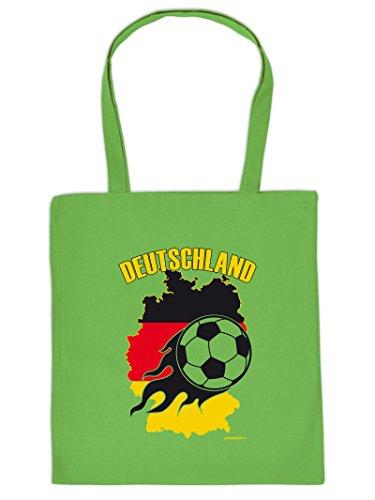 DEUTSCHLAND :Tote Bag Henkeltasche Beutel mit Aufdruck. Tragetasche, Must-have, Stofftasche,Ball,Sport,Fan