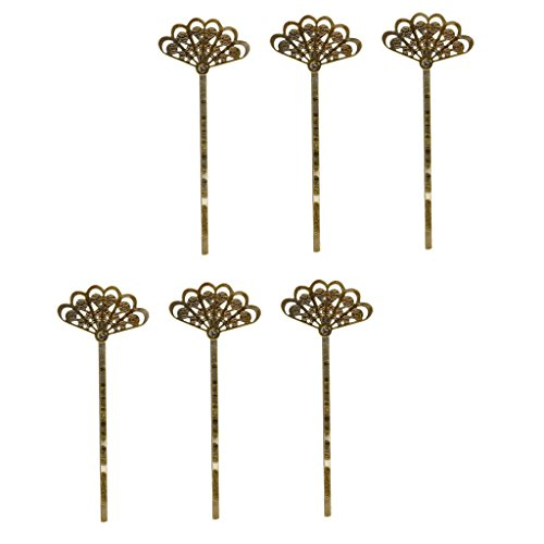 MagiDeal Vintage Filigree Hairpin scalloped