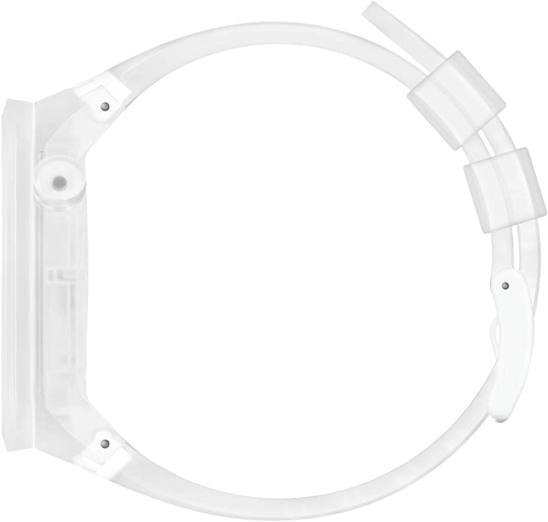 Swatch Swiss Quartz Silicone Strap, Transparent White