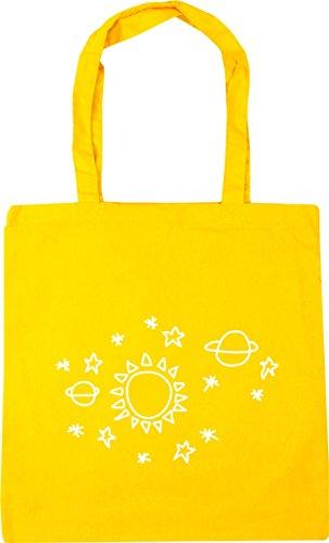 space Shopping HippoWarehouse star Yellow pattern Tote 10 42cm Beach litres x38cm Bag Gym Sun SS4wXE