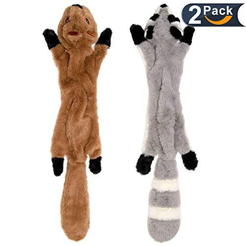 LOVEKONG Stuffingless Dog Toys, Stuffing Free Dog Chew Toys