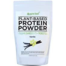 Pure Food: The Healthiest Organic Plant Based Protein Powder with Probiotics | Clean, All Natural, Vegan, Vegetarian, Whole Superfood Nutritional Supplement | Vanilla Bean, 512 Gram Pouch