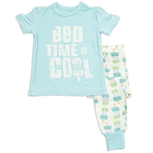 Silkberry Baby Bamboo Pajama Set Jellybean Blue 4T by Silkberry Baby