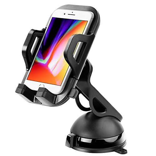 OVOS Car Phone Holder,Universal Air Vent Phone Car Mount Holder with Washable Strong Stickne Support Mobile Phone cry Gel Pad Windshield Dashboard Car SmartPhoadle for iPhone X/8/7/7Plus and More