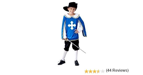 Musketeer - Disfraz de mosquetero para niño, talla 7-9 años (U37 ...
