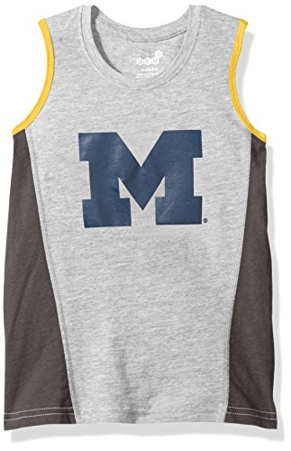 Outerstuff NCAA Michigan Wolverines Boys 4-7 Fan Gear Tank Shirt, Medium (5-6), Heather Grey