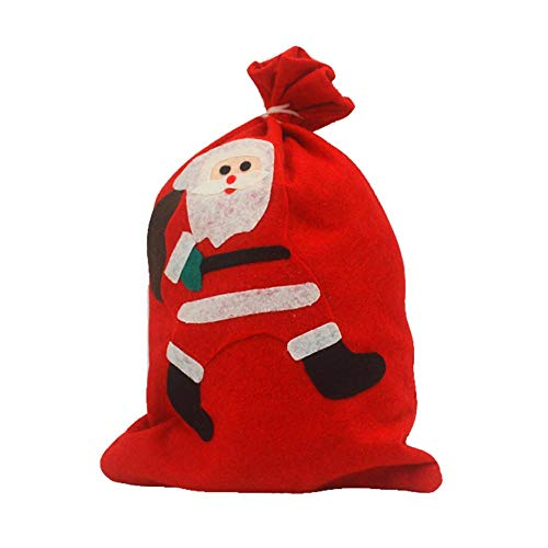 Biback Christmas Gift Bag Santa Claus Snowman Small Bag Christmas Drawstring Bag Christmas Candy Bag Christmas Decorations Candy Bags by Biback (Image #3)