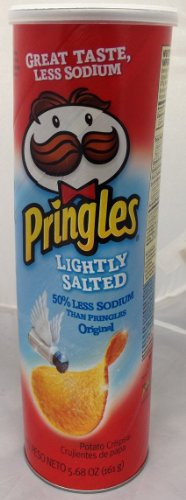 Pringles Lightly Salted Chips, 5.68 Oz [Pack of (Lightly Salted Chips)