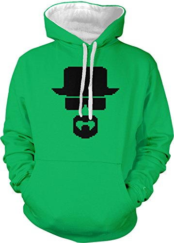 Amdesco Men's Heisenberg Two Tone Hoodie, Kelly/White Medium ()