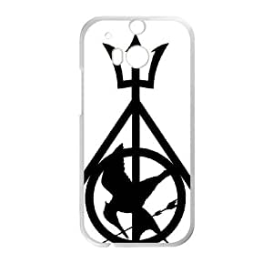 Deathly Hallows HTC One M8 Cell Phone Case White yyfabc-601089