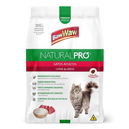Baw Waw Natural Pró Alimento Para Gatos Carne E Arroz - 6x2,5kg - Com Válvula Segurança