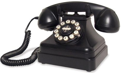 Crosley CR62-BK Kettle Classic Desk Phone with Push Button Technology, Black ()