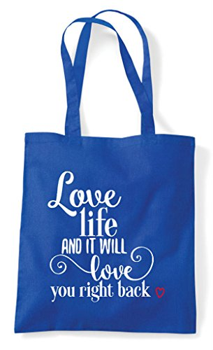 Back Love Shopper You Life Bag Tote Royal Will Right Blue And ZPpXqZ