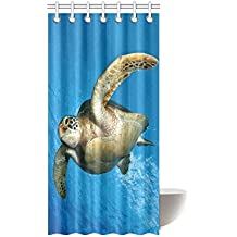 Attractive Sea Turtle Underwater Waterproof Bathroom Decor Fabric Shower Curtain  Polyester 36 X 72 Inches